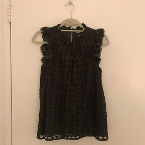Green Lace Anthropologie top - Size 8